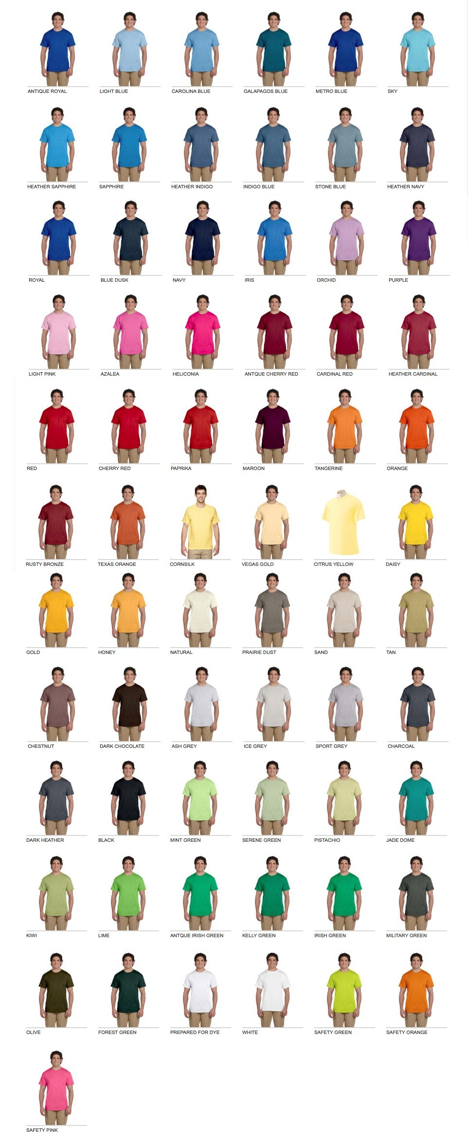 T shirt colors pure design graphics gildan 2015 swatches nvjuhfo Image collections