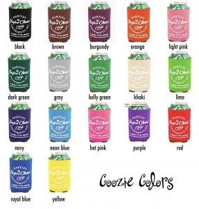 coozie colors 2013