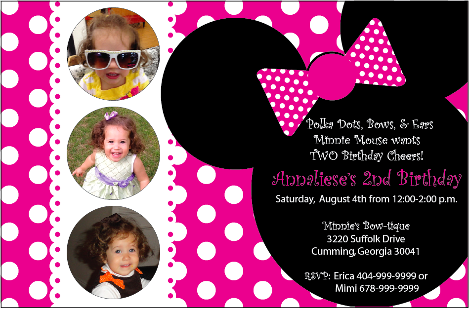 minnie mouse invites