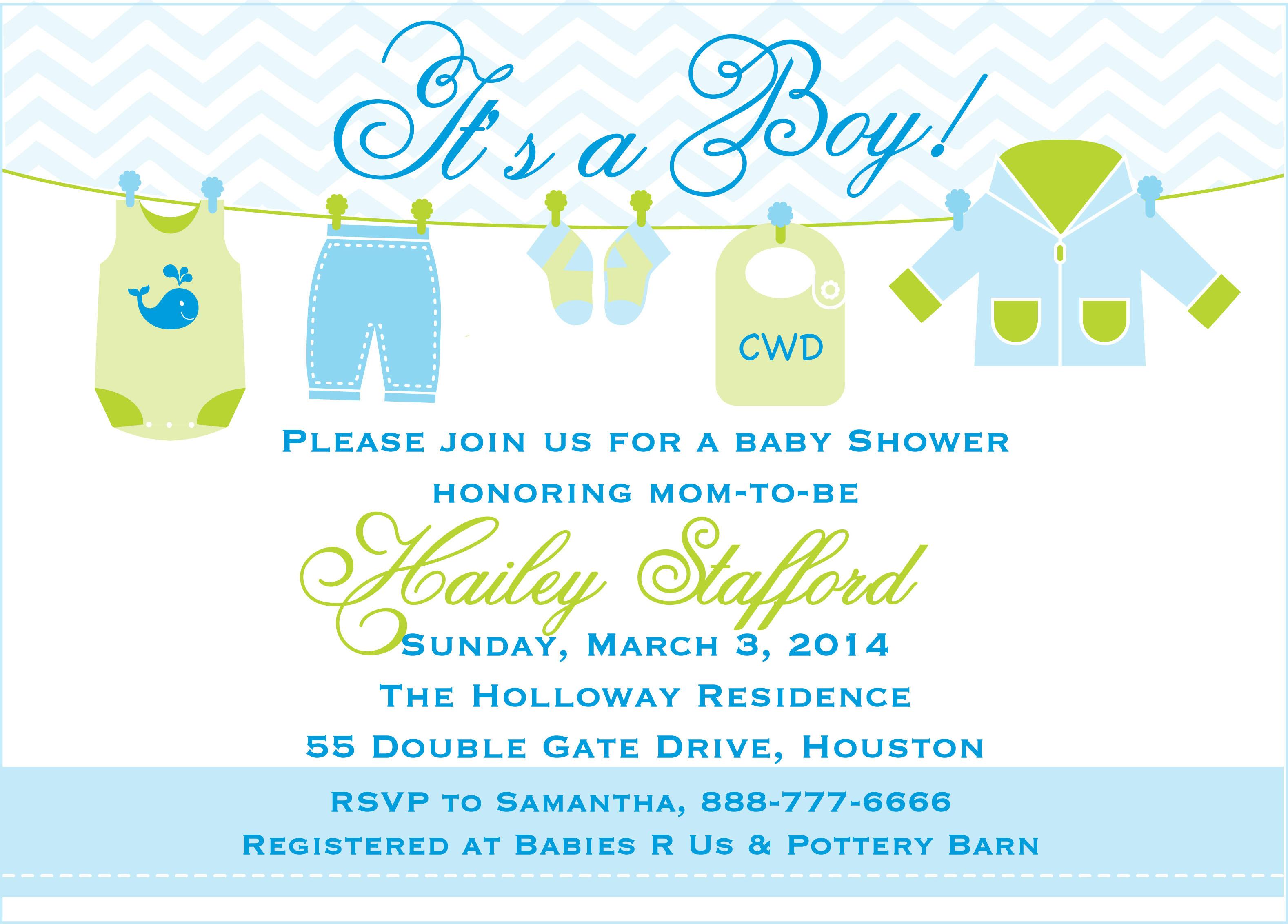 baby boy invite