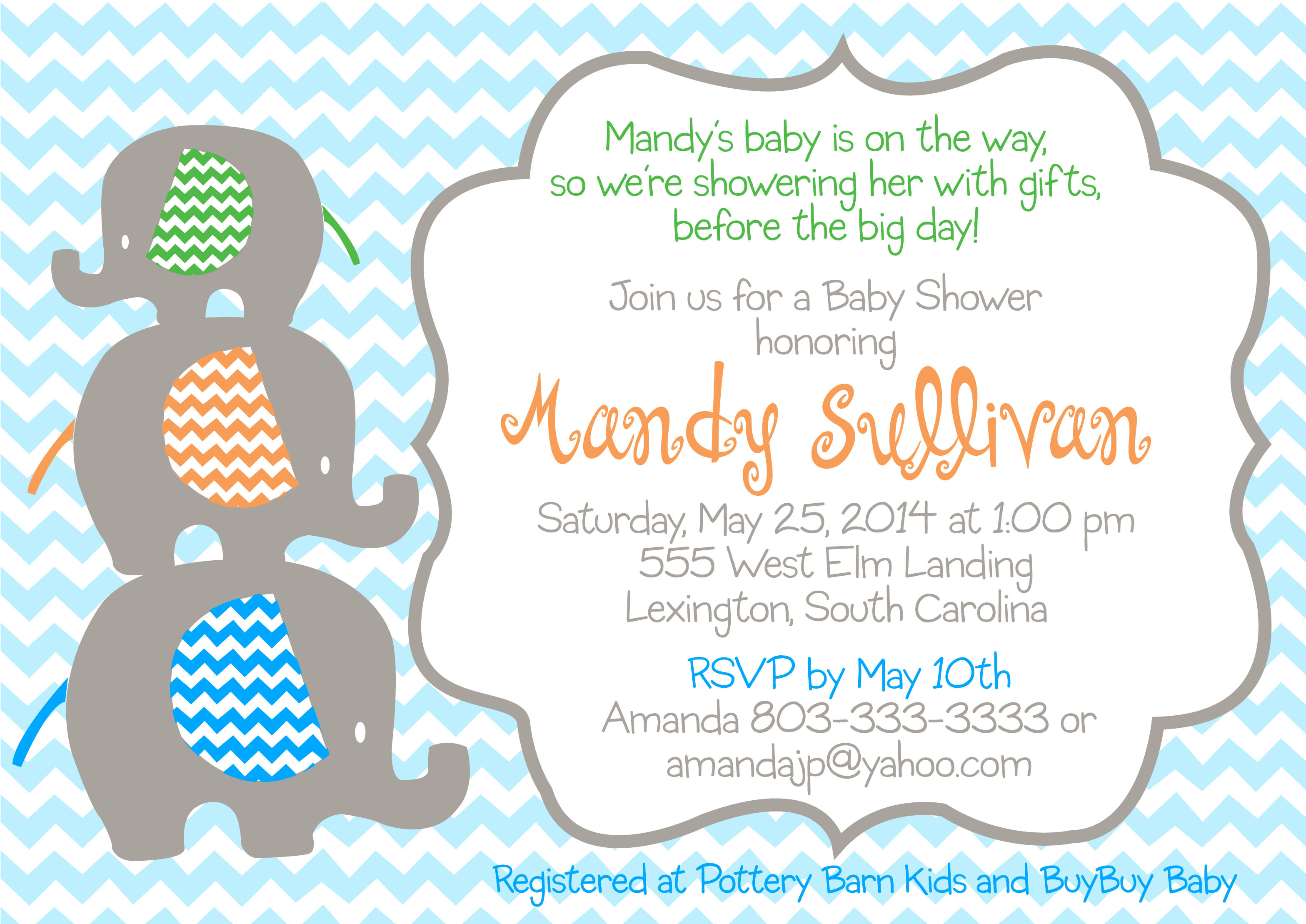 Baby shower stackable elephant invitation pure design graphics basic rgb filmwisefo