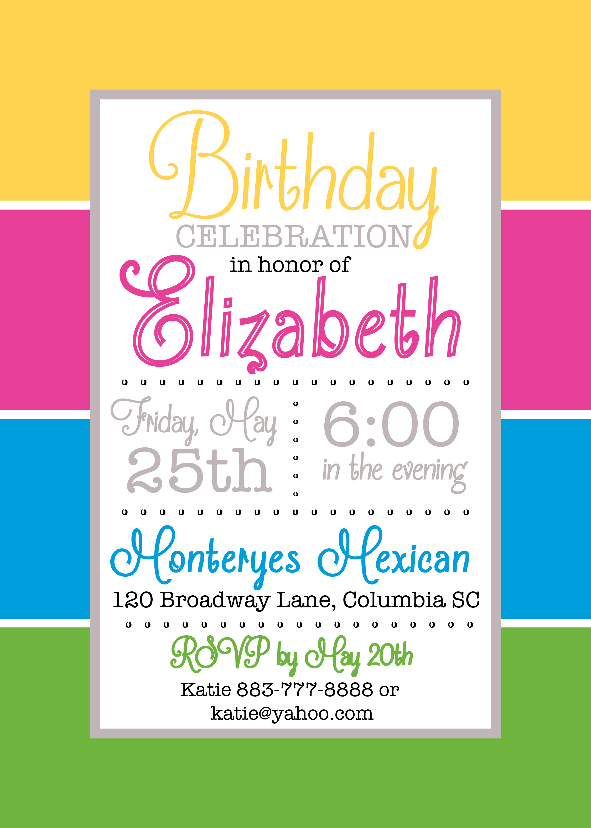 Color block party invitation pure design graphics color block party invitation stopboris Gallery