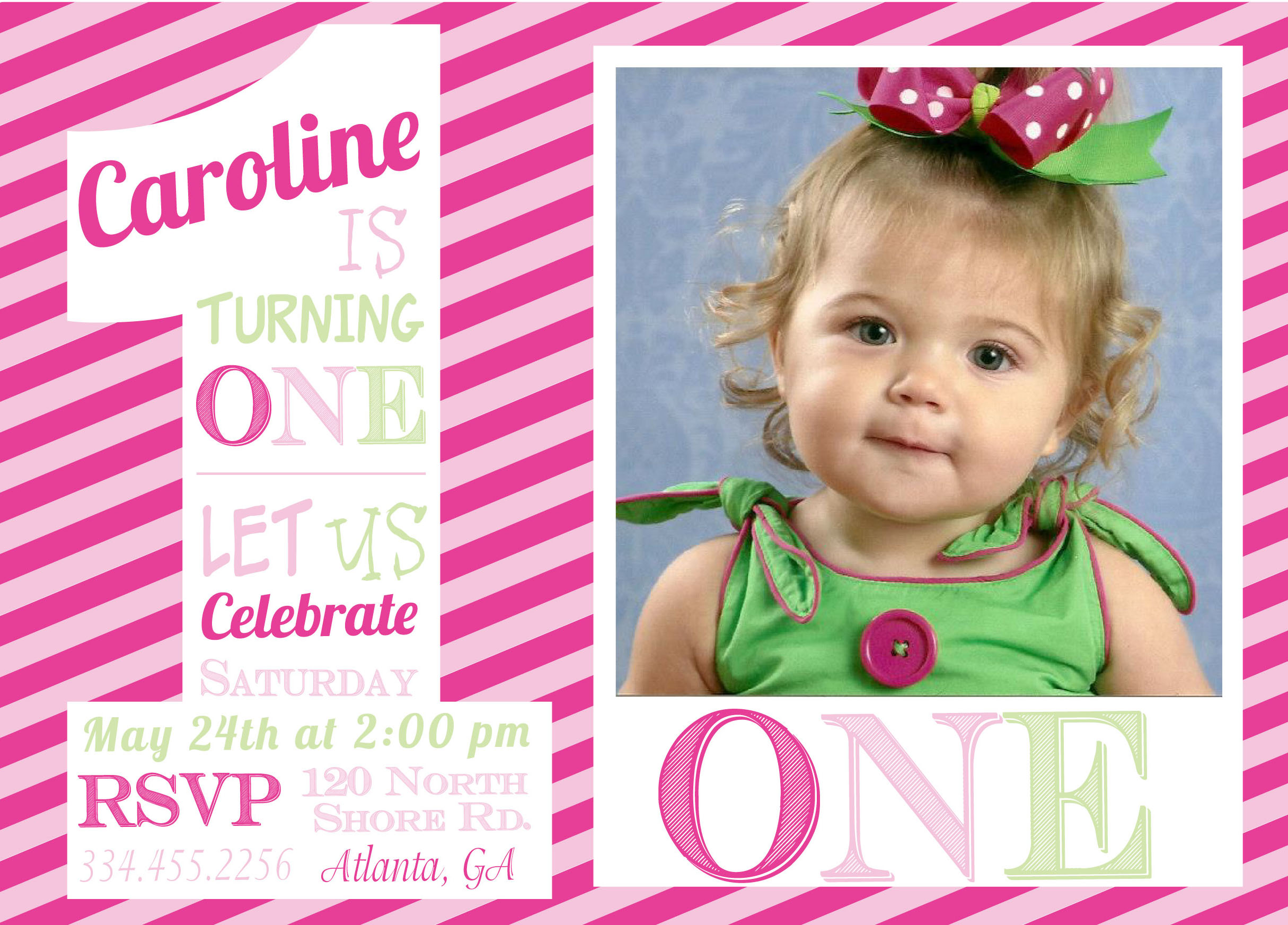 First birthday girl one invitations pure design graphics first birthday girl one invitations stopboris Image collections