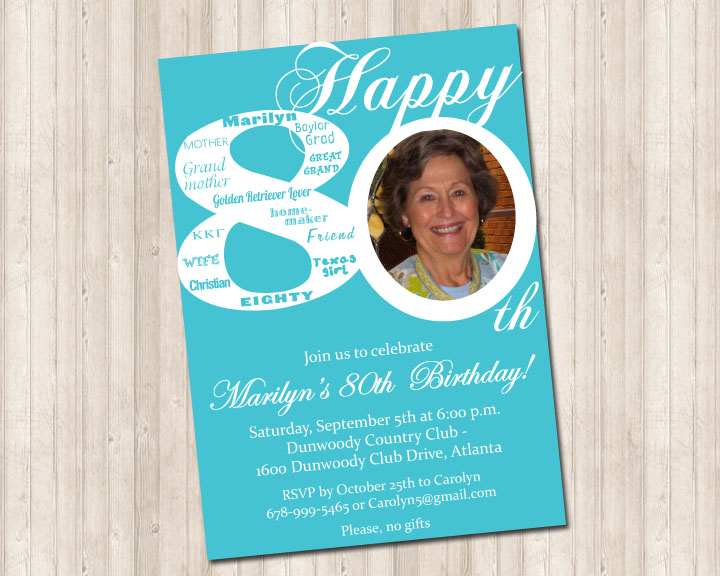 80th birthday invitation pure design graphics 80th birthday invitation filmwisefo Choice Image