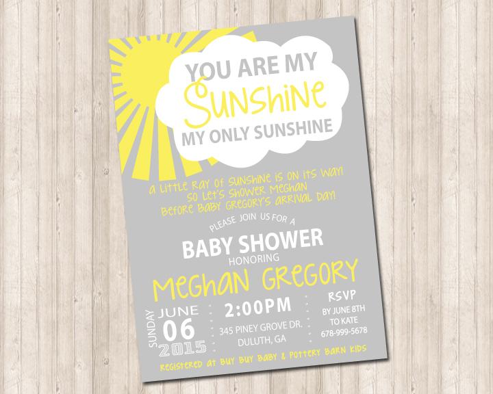 You Are My Sunshine Invitation Pure Design Graphics