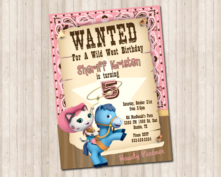 Sheriff Callie Invite Pure Design Graphics