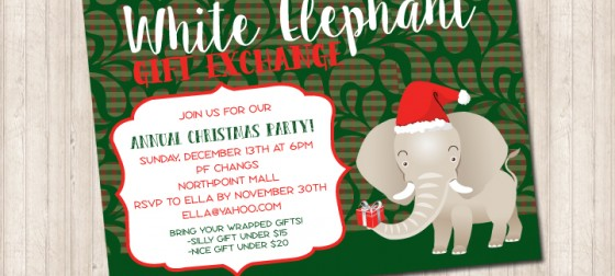 White elephant gift exchange invitation pure design graphics white elephant gift exchange invitation negle Gallery