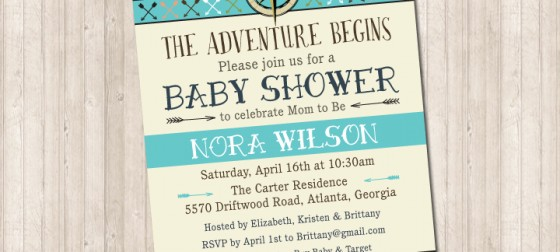 The Adventure Begins Shower Invitation