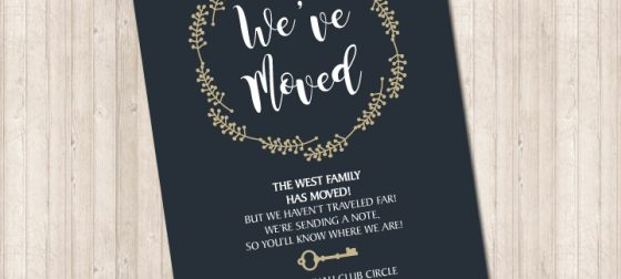 We've Moved Wreath Card