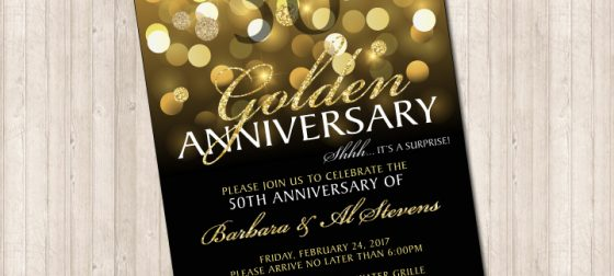50th golden wedding anniversary invitation pure design graphics 50th golden wedding anniversary invitation stopboris Gallery